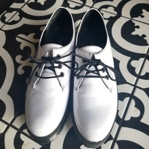 Bamboo white oxford shoes